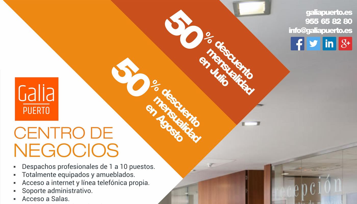 Galia Puerto: Promoción Centro de Negocios - Julio