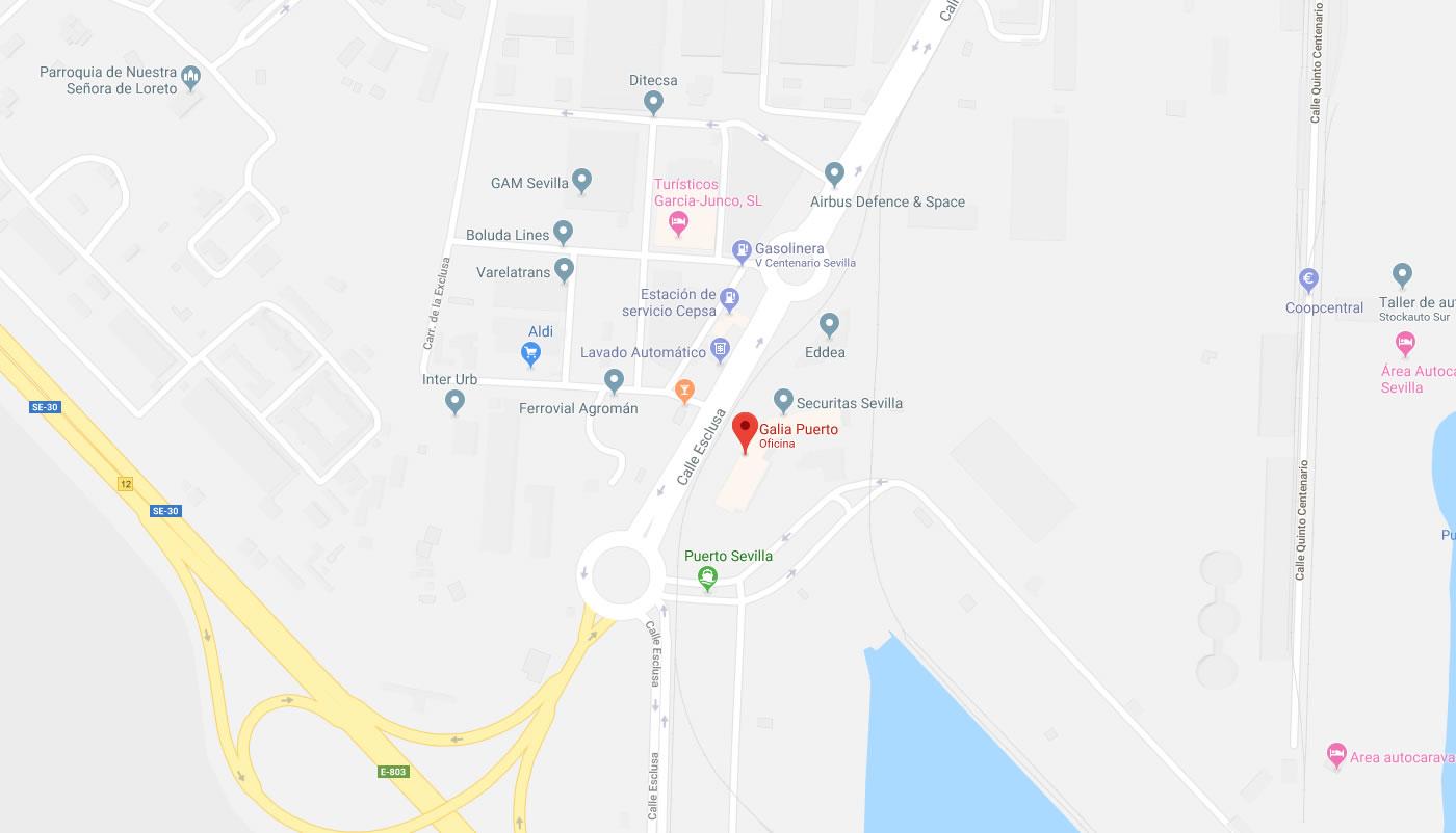 Galia Puerto: Oficinas en Sevilla con buena comunicación